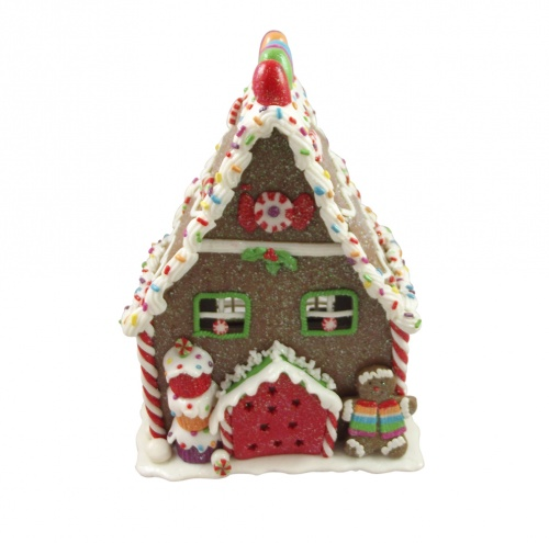Gisela graham light up gingerbread house for Home christmas decorations uk
