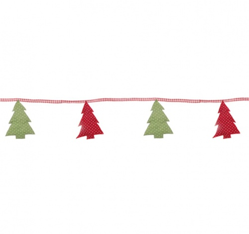 Sasse Belle Fabric Christmas Tree Bunting