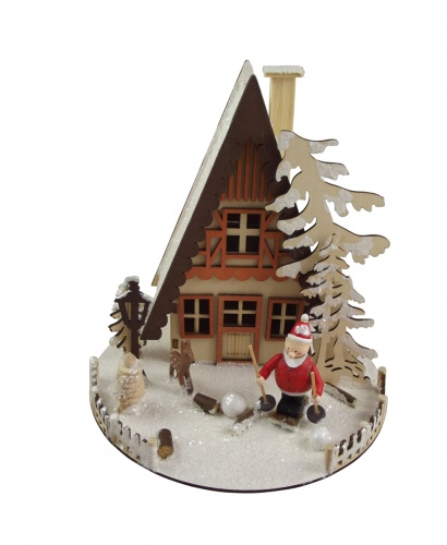 Gisela graham illuminated house christmas decoration for Christmas home decorations uk