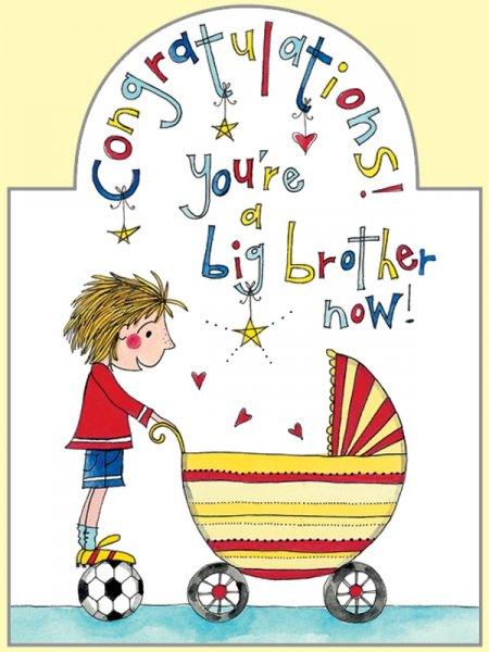 Big Brother Greeting Cards Ellen New Big Brother Card