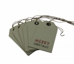 East of India Merry Christmas Tags