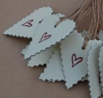 East of India Red Heart Stamp Gift Tag