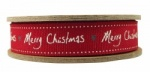 East of India 20M Handwritten Merry Christmas Ribbon