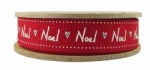 East of India 3M Handwritten Noel  Ribbon