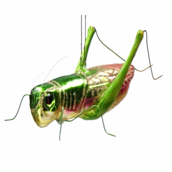 Gisela Graham Glass Grasshopper Christmas Decoration