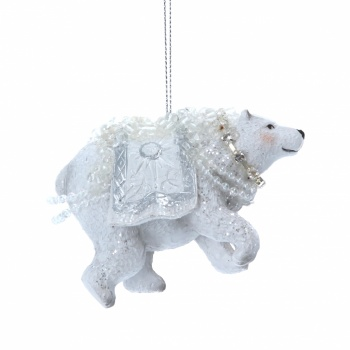 Gisela Graham Cute Polar Bear Christmas Decoration