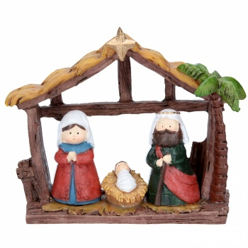 Gisela Graham Resin Children Nativity House Ornament