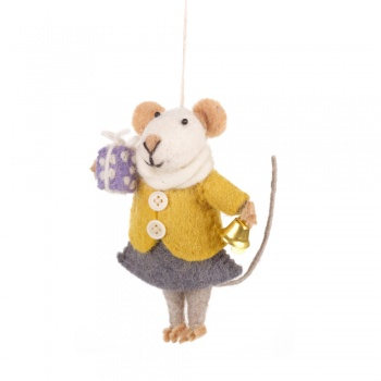 Felt So Good Agnes Mouse Hanging Christmas Tree Decoration