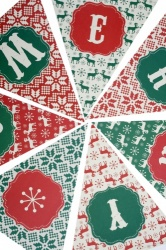 Vintage Style Christmas Paper Bunting