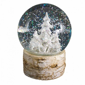 Heaven Sends Winter Scene Deer & Tree Christmas Globe