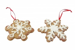 Gisela Graham Pair of Gingerbread Snowflakes