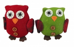 Gisela Graham Set of 2 Felt Owl Decorations