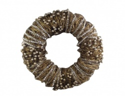 Gisela Graham Gold Twig and Diamante Christmas Wreath