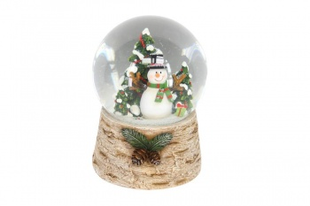 Gisela Graham Snowman with Tree Musical Snowdome