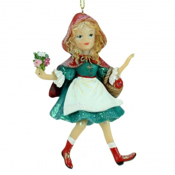 Gisela Graham Red Riding Hood Christmas Tree Decoration