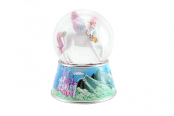 Gisela Graham Fairytale Unicorn Musical Snow Dome