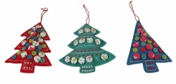 Gisela Graham Christmas Set of 3 Fabric Tree's