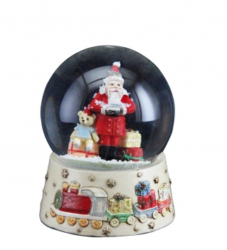 Gisela Graham Christmas Decoration Santa With Toys Snowglobe