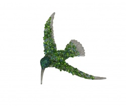 Gisela Graham Green Humming Bird Christmas Tree Decoration