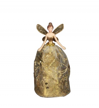 Gisela Graham Gold Glitter Christmas Fairy