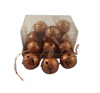 Gisela Graham Christmas Tree Decorations - Copper Baubles