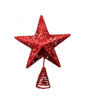 Gisela Graham Red Christmas Star Tree Topper