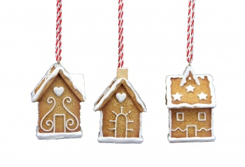 Gisela Graham Gingerbread Houses Christmas Tree Decorations