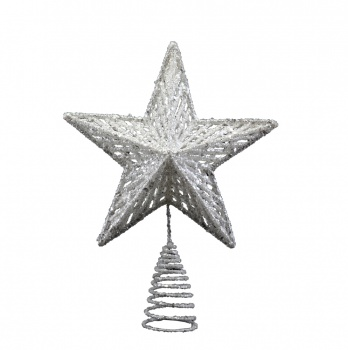 Gisela Graham Silver Christmas Star Tree Topper Feature