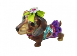 Gisela Graham Glass Dachshund Collectable Decoration