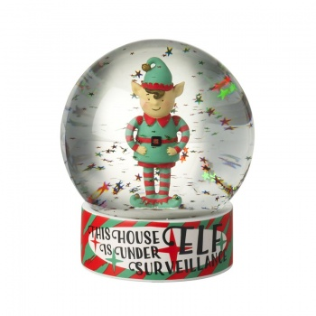 Heaven Sends Elf Surveillance Christmas Snowglobe
