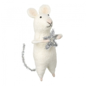 Heaven Sends Wool Mouse with Star and Glitter Tail