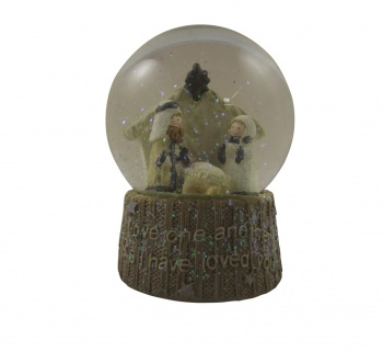 Heaven Sends Traditional Nativity Scene Snowglobe