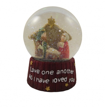 Heaven Sends Nativity Scene Christmas Snowglobe