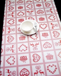 Peggy Wilkins Pvc Christmas Round Tablecloth Scandi Style