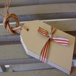East of India Cream Luggage Tags