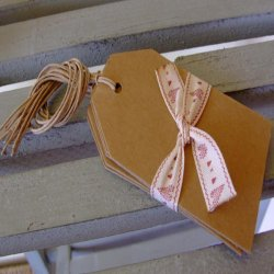 East of India Kraft Luggage Tags