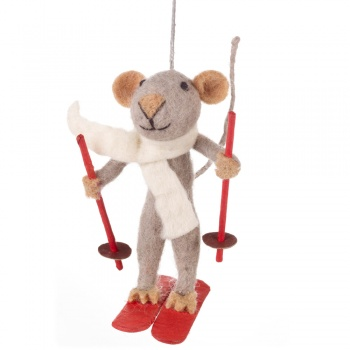 Felt So Good Marcel Mouse Hanging Christmas Tree Decoration