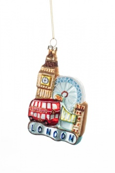 Shoeless Joe London Scene Christmas Decoration