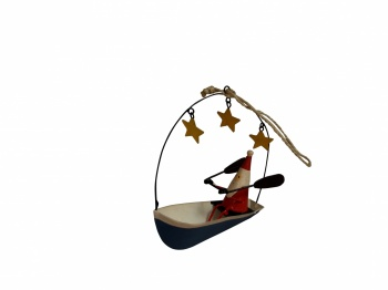 Shoeless Joe Christmas Tree Decoration Santa In A Boat