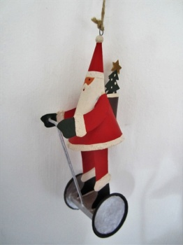 Shoeless Joe Christmas Tree Decoration Segway Santa
