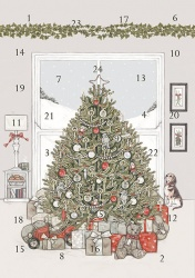 Wrendale Designs Under The Christmas Tree Advent Christmas Card