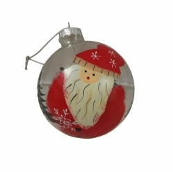 Gisela Graham Santa Glass Bauble