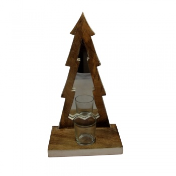 Sil Merry Christmas Tree T-Light Holder