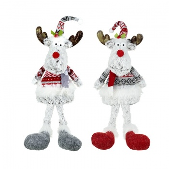 Heaven Sends Set of 2 Sitting Reindeer Decorations
