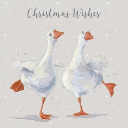 Wrendale Designs Dancing On Ice Geese Design Boxed Christmas Cards
