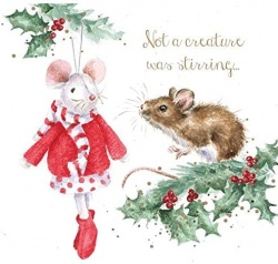Wrendale Designs Not A Creature Was Stirring Christmas Card Set