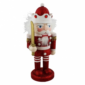 Merry & Bright Red Nutcracker Decoration