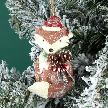 Gisela Graham Woodland Fox Christmas Tree Decoration