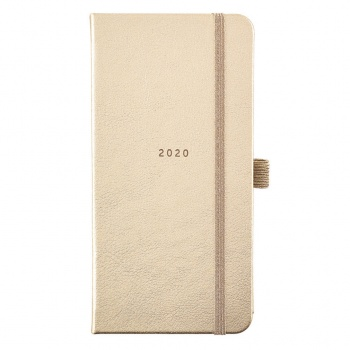 Busy B Ladies Slim Style Gold Diary 2020