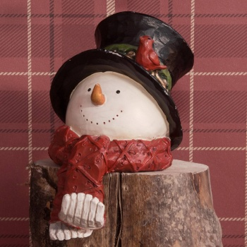 Widdop Gifts Ceramic Christmas Snowman Stocking Holder